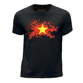 STUFF4 Guttens rund hals T-skjorte/Vietnam/vietnamesisk flagg feilindikator/svart