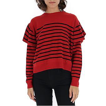 Red Valentino Sr3kcb144ghjxm Women's Red Wool Sweater