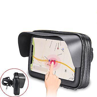 Sole visio in bicicletta moto moto manubrio borsa touch screen borsa per smartphone sotto 6.3 pollici