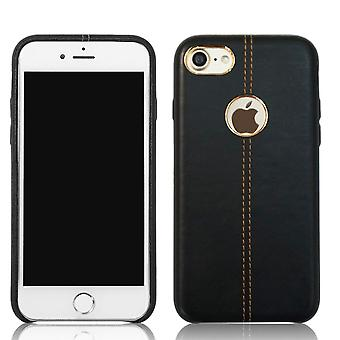 Genuine soft leather protective back case for apple iphone 7