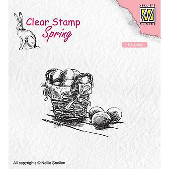 Nellie's Choice Clearstamp - Easter eggs SPCS012 50x40mm (02-20)