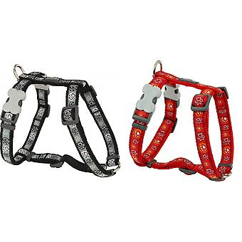 Red Dingo Adjustable Paw Prints Dog Harness
