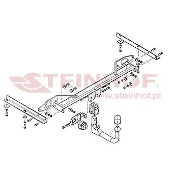 Pasek holowniczy Steinhof automatyczny (pionowy) dla CRUZE Station Wagon 2012-2015