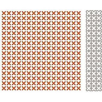 Marianne Design Kohokuviointi kansio + die Cross ompelemalla DF3417