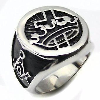 Knights templar round freemason ring