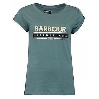 Barbour International Apex Button Shoulder Logo T-Shirt