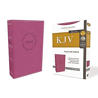 KJV - Thinline Bible - Leathersoft - Pink - Red Letter Edition - Comf