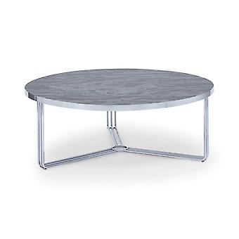 Gillmore Deco - Large Circular Coffee Table With Various Wooden Tops And Frame Colour Options