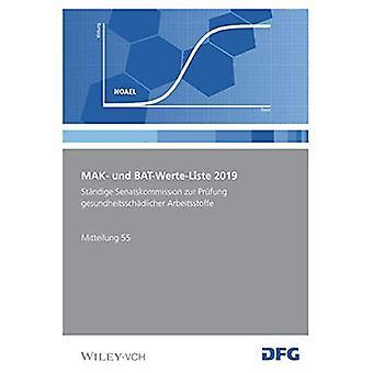 MAK- und BAT-Werte-Liste 2019 by Deutsche Forschungsgemeinschaft - 97