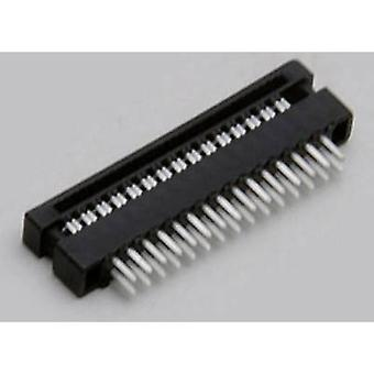 TRU COMPONENTS TC-2506341 Edge connector (sockets) + ribbon cable outlet Contact spacing: 2 mm Total number of pins: 6 No. of rows: 2 1 pc(s)