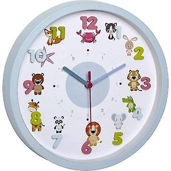 TFA Dostmann Little Animals Quartz Wall clock 30.9 cm x 4.4 cm Light blue