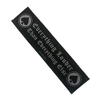 Motorhead Patch alt høyere bandet logo nye offisielle vevd bånd 21 cm x 5 cm)