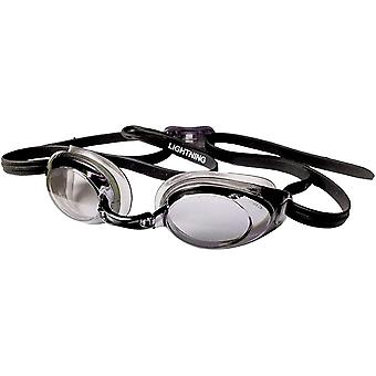 FINIS Lightning Swim Goggles - Black/Smoke