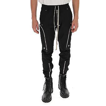 Rick Owens Ru20f3377te09 Men's Black Cotton Pants
