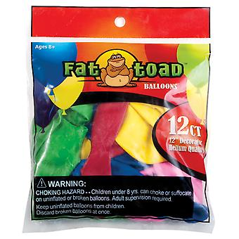 "Fat Toad Balloons Round 12"" 12/Pkg-Assorted"