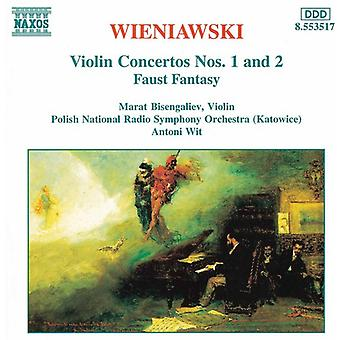 H. Wieniawski-internasjonale Wieniawski internasjonale: Fiolin Concertos nr. 1 & 2 [DVD] USA import