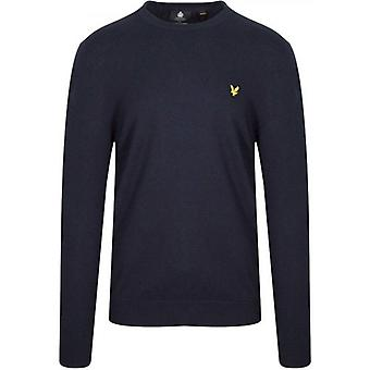 Lyle & Scott Dark Navy Puuvilla Merino Crew Jumper