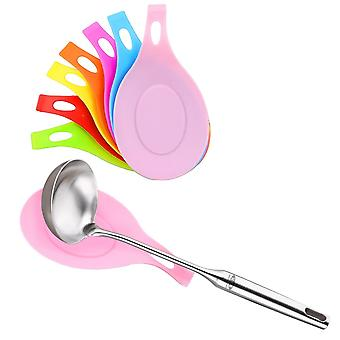 1Pcs Silicone Insulation Spoon Eat Mat Pot Holder Used to Rest Heat Resistant Drink Glass