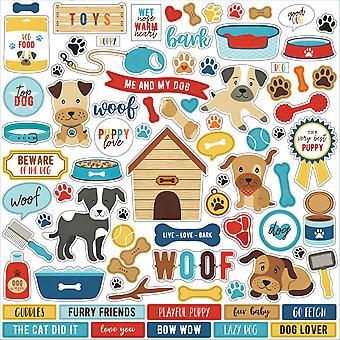 Echo Park I Love My Dog 12x12 Inch Element Sticker