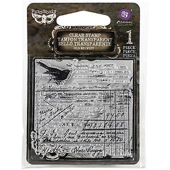 Finnabair Old Receipt Clear Stamp