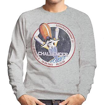 NASA STS 6 Challenger Mission Abzeichen Distressed Herren Sweatshirt