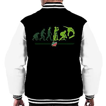 Berg dauw evolutie van een Skater mannen ' s Varsity Jacket