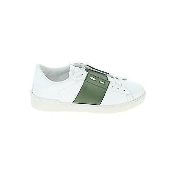 Valentino Garavani Uy2s0830flr0ja Men's Wit/groene leren sneakers