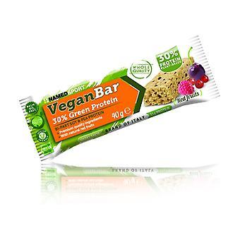 Vegan protein bar 1 bar of 40g (Red Berries)