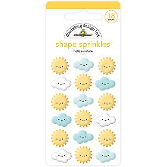 Doodlebug Design Hello Sunshine Muoto sprinkles (18kpl) (6353)