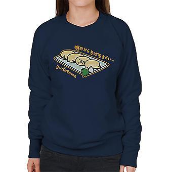 Gudetama Dashimaki Plate Women's Sweatshirt
