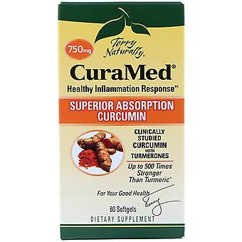 Terry Naturally, CuraMed, 750 mg, 60 Softgels