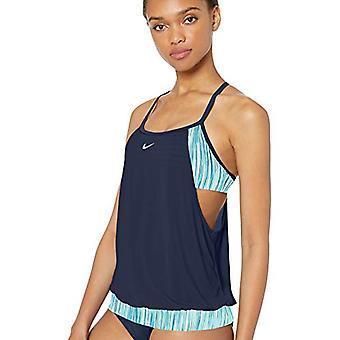 Nike Swim Women's Layered Sport Tankini Swimsuit Set, Teal Tint, Medium