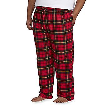 Essentials Men's Big & Tall Flannel Pijama Pant se potrivesc de DXL, Red Plaid,...