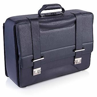 Richmond Leather Overnight Bag in Indigo Blue