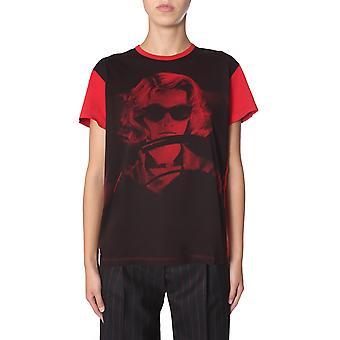 N°21 F0114013s1y1 Dames's Zwart/rood Katoen T-shirt