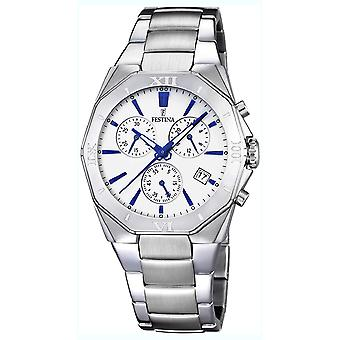 Festina chrono 5atm Watch for Analog Quartz Men with Stainless Steel Bracelet F16757/5
