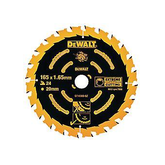 DEWALT Circular Saw Blade 165 x 20mm x 24T Corded Extreme Framing DEWDT10300QZ