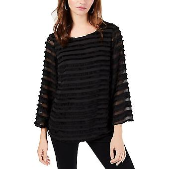 Alfani | Striped Lantern Sleeve Blouse