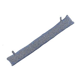 Nicola Spring Draught Excluder Cushion - Modern Style Fabric for Home, Office - Blue