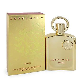 Supremacy Gold Eau De Parfum Spray (Unisex) par Afnan 3.4 oz Eau De Parfum Spray