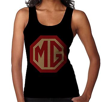 MG Red And Gold Logo British Motor Heritage Women's Vest