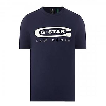 G-Star Raw Graphic 4 Logo T-Shirt Navy Blue D15104