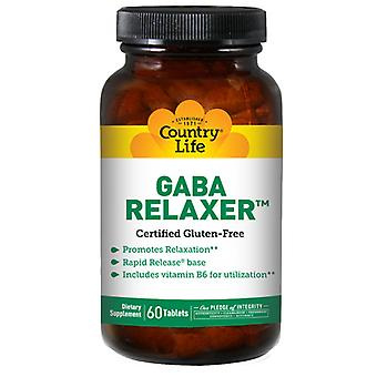 Country Life Relaxer with GABA + B-6 RR, 60 Tabs