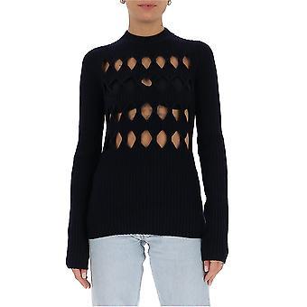 Victoria Beckham 1420kju001915a Women's Blue Wool Sweater