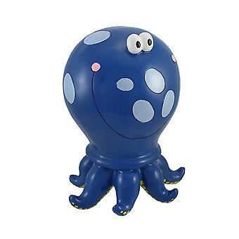 Blue Polka Dot Octopus Children`s Coin Bank 10 In.