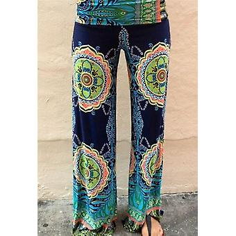 Womens Loose Pants, Floral Print Wide Leg Broek Long Stretch Broek