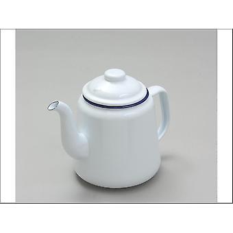 Falcon Teapot Bianco / Blu Rim 14cm 69614WH