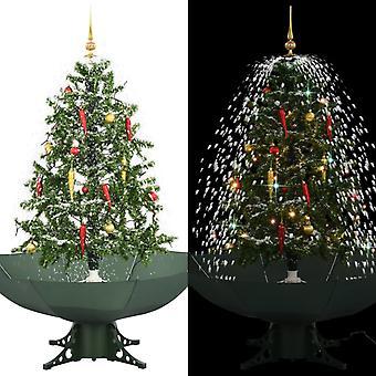 雨の足緑140センチの雪のクリスマスツリー