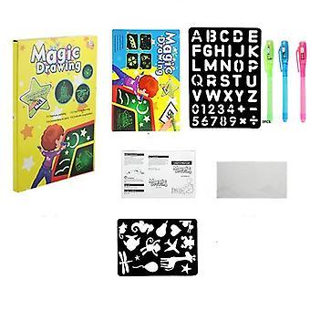1pc A4 Led leuchtende Zeichnung Board Graffiti Doodle, Tablet Magic Zeichnung mit