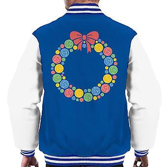 The Little Prince Christmas Festive Wreath Men's Varsity Jacket